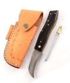 Exkluzivní houbařský nůž damaškový buvolím rohem ručně dělaný