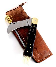 Exkluzivní houbařský nůž s buvolím rohem ručně dělaný